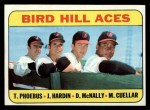 1969 Topps #532   -  Mike Cuellar / Jim Hardin / Dave McNally / Tom Phoebus Bird Hill Aces Front Thumbnail