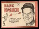 1969 Topps #124  Hank Bauer  Back Thumbnail