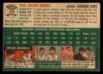 1954 Topps #28  Paul Minner  Back Thumbnail