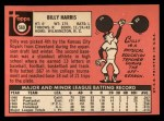 1969 Topps #569  Billy Harris  Back Thumbnail