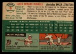 1954 Topps #6  Pete Runnels  Back Thumbnail