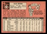 1969 Topps #149  Ollie Brown  Back Thumbnail