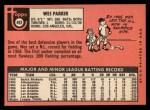 1969 Topps #493 ^YN^ Wes Parker  Back Thumbnail