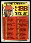1969 Topps #107 JOH  -  Bob Gibson Checklist 2 Front Thumbnail