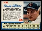 1962 Post #85  Harmon Killebrew   Front Thumbnail