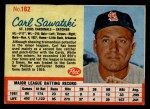 1962 Post #162  Carl Sawatski   Front Thumbnail