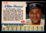 1962 Post #8  Elston Howard   Front Thumbnail