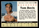 1961 Post Cereal #165 BOX Tommy Davis   Front Thumbnail