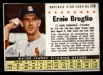 1961 Post #179 BOX Ernie Broglio   Front Thumbnail