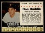 1961 Post Cereal #53 BOX Don Buddin   Front Thumbnail