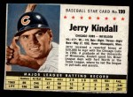 1961 Post #199 BOX Jerry Kindall   Front Thumbnail