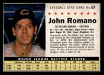 1961 Post Cereal #67 BOX John Romano   Front Thumbnail