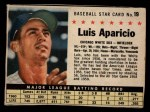 1961 Post #19 BOX Luis Aparicio   Front Thumbnail