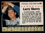 1961 Post #161 BOX Larry Sherry   Front Thumbnail