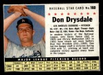 1961 Post #160 BOX Don Drysdale   Front Thumbnail
