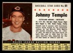 1961 Post Cereal #61 BOX Johnny Temple   Front Thumbnail