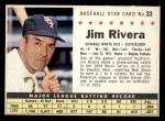1961 Post #33 COM Jim Rivera   Front Thumbnail