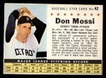 1961 Post #42 COM Don Mossi   Front Thumbnail