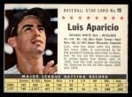 1961 Post #19 COM Luis Aparicio   Front Thumbnail