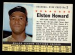 1961 Post Cereal #2 COM Elston Howard   Front Thumbnail