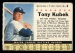 1961 Post Cereal #9 COM Tony Kubek   Front Thumbnail