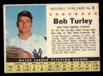 1961 Post Cereal #5 COM Bob Turley  Front Thumbnail