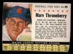 1961 Post #85 BOX Marv Throneberry   Front Thumbnail