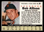 1961 Post #91 BOX Bob Allison  Front Thumbnail