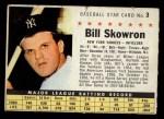 1961 Post #3 COM Bill Skowron   Front Thumbnail