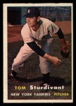 1957 Topps #34  Tom Sturdivant  Front Thumbnail