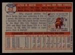 1957 Topps #62  Billy Martin  Back Thumbnail