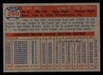 1957 Topps #260  Del Ennis  Back Thumbnail