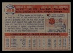 1957 Topps #359  Tom Cheney  Back Thumbnail