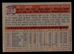 1957 Topps #387  Jack Sanford  Back Thumbnail