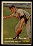 1957 Topps #271  Danny O'Connell  Front Thumbnail
