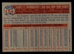 1957 Topps #154  Red Schoendienst  Back Thumbnail
