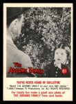 1964 Donruss Addams Family #61 AM  Never heard of Guillotine Front Thumbnail