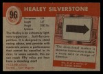 1954 Topps World on Wheels #96   Healey Silverstone Back Thumbnail