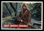 1956 Topps Davy Crockett #28 ORG  -    Davy Senses Trouble  Front Thumbnail