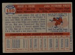 1957 Topps #150  Bob Friend  Back Thumbnail