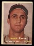 1957 Topps #37  Frank Torre  Front Thumbnail