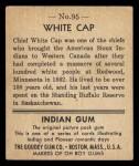 1933 Goudey Indian Gum #95   White Cap  Back Thumbnail