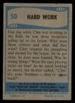 1956 Topps / Bubbles Inc Elvis Presley #50   Hard Work Back Thumbnail