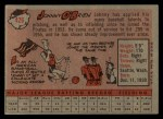 1958 Topps #426  Johnny O'Brien  Back Thumbnail