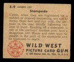 1949 Bowman Wild West #9 E  Stampede Back Thumbnail