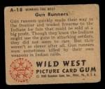 1949 Bowman Wild West #18 A  Gun Runners Back Thumbnail
