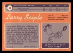 1970 Topps #94  Larry Seiple  Back Thumbnail
