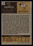 1971 Topps #5  Tom Dempsey  Back Thumbnail