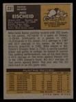 1971 Topps #231  Mike Eischeid  Back Thumbnail