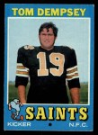 1971 Topps #5  Tom Dempsey  Front Thumbnail